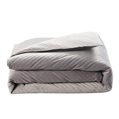 "48""x 74"" 15lb Quilted Weighted Blanket - BlanQuil"