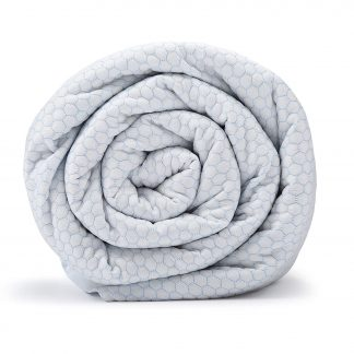 BlanQuil Chill Cooling Weighted Blanket (White Frost 15lb)