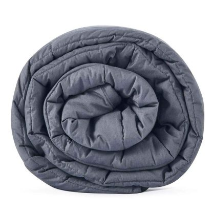 """CuteKing Weighted Blanket 60""""x80"""" 25lbs Queen Size for Adult, Dark Grey"""