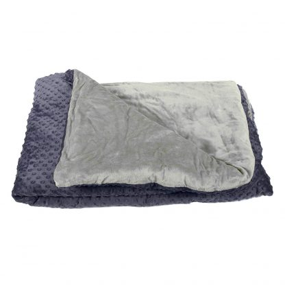 Harkla Adult Weighted Blanket (15lbs) – Soft and Comfortable Minky Fabric