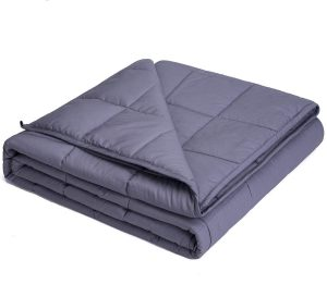 "Kpblis Weighted Blanket 20 lbs 60"" x 80"" for 180-220 lbs Adult, Dark Gray"
