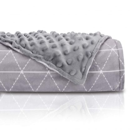 Rocabi Luxury Weighted Blanket 15 lbs (60″x80″) & Minky Cover